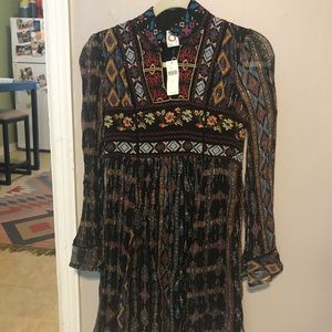 Anthropologie NWT high neck dress